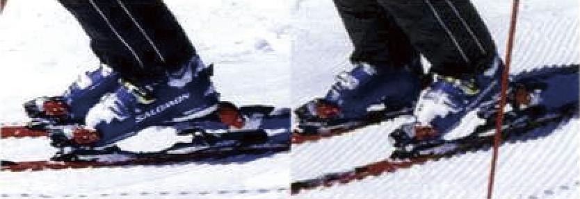 スキーを履く